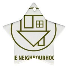The Neighbourhood Logo Ornament (star) by Celenk