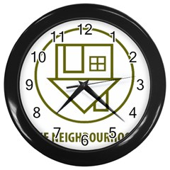 The Neighbourhood Logo Wall Clocks (black) by Celenk