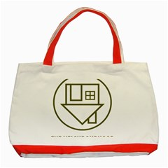 The Neighbourhood Logo Classic Tote Bag (red) by Celenk