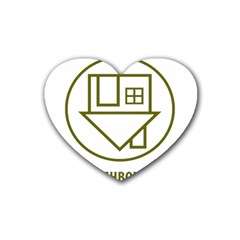 The Neighbourhood Logo Rubber Coaster (heart)  by Celenk