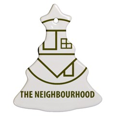 The Neighbourhood Logo Christmas Tree Ornament (two Sides) by Celenk