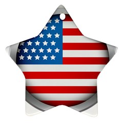 United Of America Usa Flag Ornament (star) by Celenk
