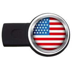 United Of America Usa Flag Usb Flash Drive Round (4 Gb) by Celenk
