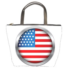 United Of America Usa Flag Bucket Bags by Celenk