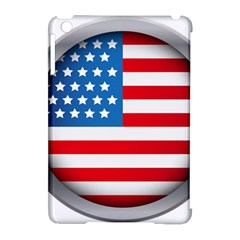 United Of America Usa Flag Apple Ipad Mini Hardshell Case (compatible With Smart Cover) by Celenk