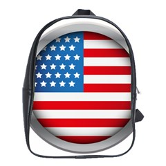 United Of America Usa Flag School Bag (xl) by Celenk