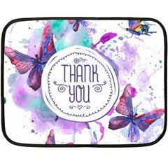 Thank You Fleece Blanket (mini) by Celenk