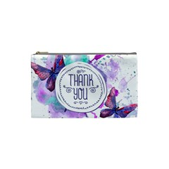Thank You Cosmetic Bag (small)  by Celenk