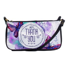 Thank You Shoulder Clutch Bags by Celenk