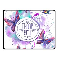 Thank You Double Sided Fleece Blanket (small)  by Celenk