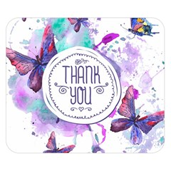 Thank You Double Sided Flano Blanket (small)  by Celenk