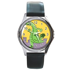 Dragon Round Metal Watch by Celenk
