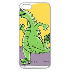 Dragon Apple Seamless Iphone 5 Case (clear) by Celenk