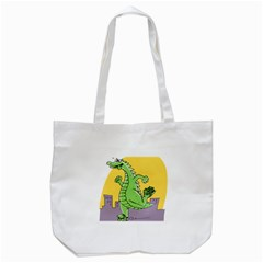 Dragon Tote Bag (white) by Celenk
