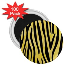 Skin4 Black Marble & Yellow Watercolor (r) 2 25  Magnets (100 Pack)  by trendistuff