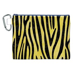 Skin4 Black Marble & Yellow Watercolor (r) Canvas Cosmetic Bag (xxl) by trendistuff