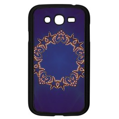 Blue Gold Look Stars Christmas Wreath Samsung Galaxy Grand Duos I9082 Case (black) by yoursparklingshop
