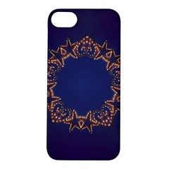 Blue Gold Look Stars Christmas Wreath Apple Iphone 5s/ Se Hardshell Case by yoursparklingshop