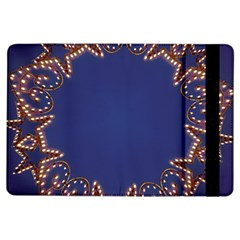 Blue Gold Look Stars Christmas Wreath Ipad Air Flip by yoursparklingshop