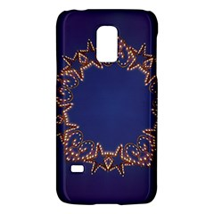 Blue Gold Look Stars Christmas Wreath Galaxy S5 Mini by yoursparklingshop