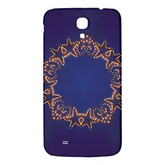 Blue Gold Look Stars Christmas Wreath Samsung Galaxy Mega I9200 Hardshell Back Case by yoursparklingshop