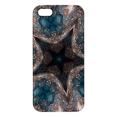 Kaleidoscopic Design Elegant Star Brown Turquoise Iphone 5s/ Se Premium Hardshell Case by yoursparklingshop