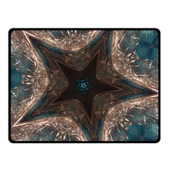 Kaleidoscopic Design Elegant Star Brown Turquoise Double Sided Fleece Blanket (small)  by yoursparklingshop