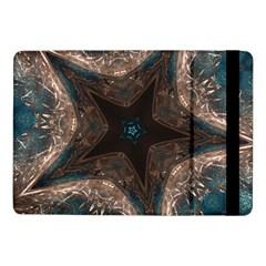 Kaleidoscopic Design Elegant Star Brown Turquoise Samsung Galaxy Tab Pro 10 1  Flip Case by yoursparklingshop
