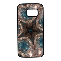 Kaleidoscopic Design Elegant Star Brown Turquoise Samsung Galaxy S7 Black Seamless Case by yoursparklingshop