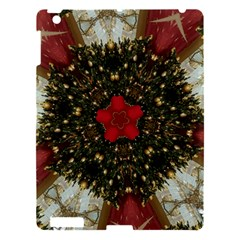 Christmas Wreath Stars Green Red Elegant Apple Ipad 3/4 Hardshell Case by yoursparklingshop