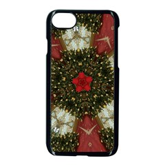Christmas Wreath Stars Green Red Elegant Apple Iphone 8 Seamless Case (black) by yoursparklingshop