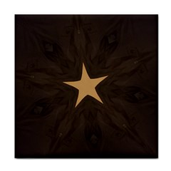 Rustic Elegant Brown Christmas Star Design Tile Coasters by yoursparklingshop