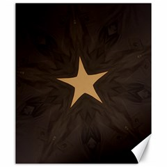 Rustic Elegant Brown Christmas Star Design Canvas 20  X 24   by yoursparklingshop
