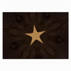 Rustic Elegant Brown Christmas Star Design Large Glasses Cloth (2 Side) by yoursparklingshop