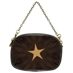 Rustic Elegant Brown Christmas Star Design Chain Purses (one Side)  by yoursparklingshop