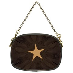 Rustic Elegant Brown Christmas Star Design Chain Purses (two Sides)  by yoursparklingshop