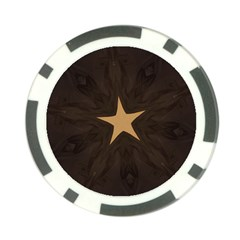 Rustic Elegant Brown Christmas Star Design Poker Chip Card Guard (10 Pack) by yoursparklingshop