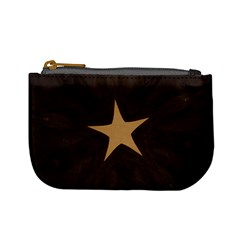Rustic Elegant Brown Christmas Star Design Mini Coin Purses by yoursparklingshop