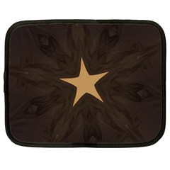 Rustic Elegant Brown Christmas Star Design Netbook Case (xl)  by yoursparklingshop
