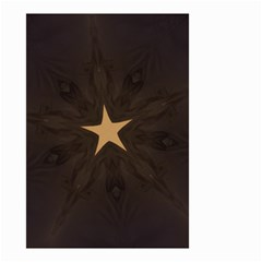 Rustic Elegant Brown Christmas Star Design Small Garden Flag (two Sides) by yoursparklingshop