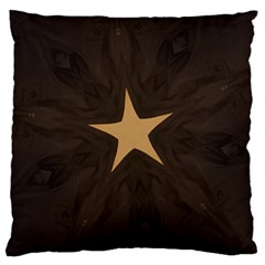 Rustic Elegant Brown Christmas Star Design Large Cushion Case (one Side) by yoursparklingshop