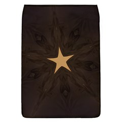 Rustic Elegant Brown Christmas Star Design Flap Covers (l)  by yoursparklingshop