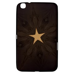 Rustic Elegant Brown Christmas Star Design Samsung Galaxy Tab 3 (8 ) T3100 Hardshell Case  by yoursparklingshop