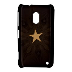 Rustic Elegant Brown Christmas Star Design Nokia Lumia 620 by yoursparklingshop