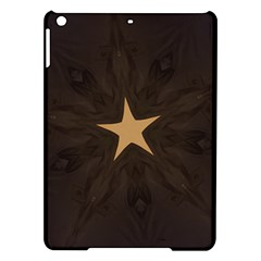 Rustic Elegant Brown Christmas Star Design Ipad Air Hardshell Cases by yoursparklingshop