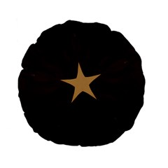 Rustic Elegant Brown Christmas Star Design Standard 15  Premium Flano Round Cushions by yoursparklingshop