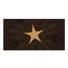 Rustic Elegant Brown Christmas Star Design Satin Shawl by yoursparklingshop