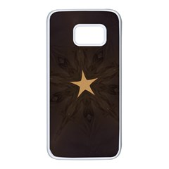 Rustic Elegant Brown Christmas Star Design Samsung Galaxy S7 White Seamless Case by yoursparklingshop