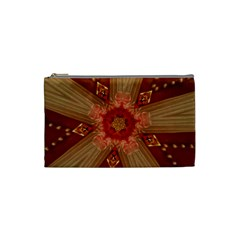 Red Star Ribbon Elegant Kaleidoscopic Design Cosmetic Bag (small)  by yoursparklingshop
