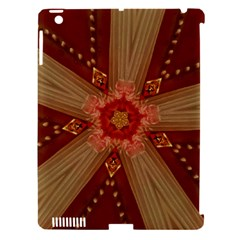 Red Star Ribbon Elegant Kaleidoscopic Design Apple Ipad 3/4 Hardshell Case (compatible With Smart Cover) by yoursparklingshop